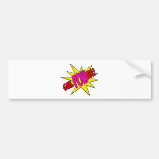 GirlPOWer Bumper Sticker