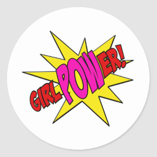GirlPOWer Classic Round Sticker