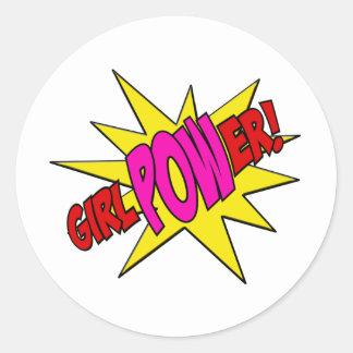 GirlPOWer Classic Round Sticker