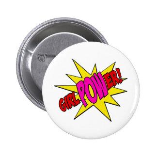 GirlPOWer Pin Redondo De 2 Pulgadas