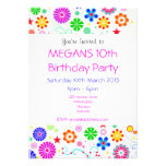 Girls 10th Birthday Party Invite