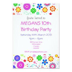 Girls 10th birthday invitations zazzle girls 10th birthday party invite filmwisefo