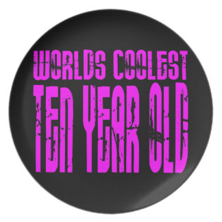 Girls 10th Birthdays Pink Worlds Coolest Ten Year Plates