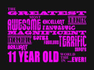 Girls 11th Birthdays Pink Greatest 11 Year Old T Shirt
