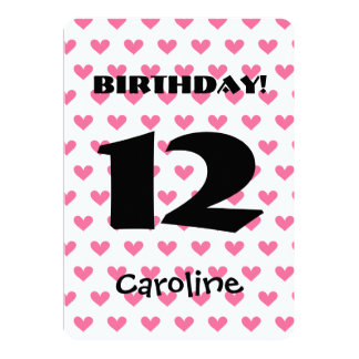 12th birthday invitations filmwisefo Image collections