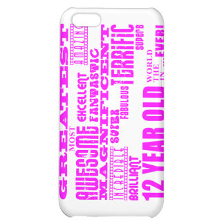 Girls 12th Birthdays : Pink Greatest 12 Year Old iPhone 5C Covers