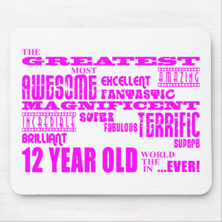 Girls 12th Birthdays : Pink Greatest 12 Year Old Mouse Pad