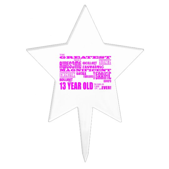Girls 13th Birthdays : Pink Greatest 13 Year Old Cake Topper