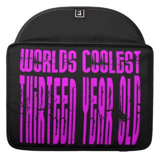 Girls 13th Birthdays Pink Worlds Coolest Thirteen MacBook Pro Sleeve