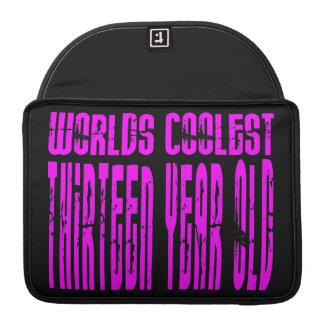 Girls 13th Birthdays Pink Worlds Coolest Thirteen Sleeve For MacBooks