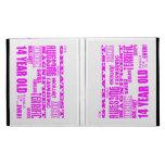 Girls 14th Birthdays : Pink Greatest 14 Year Old iPad Folio Covers
