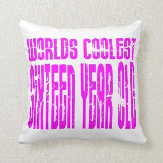 Girls 16 Birthdays Worlds Coolest Sixteen Year Old Throw Pillow