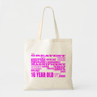 Girls 16th Birthdays : Pink Greatest 16 Year Old Tote Bags