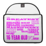Girls 16th Birthdays : Pink Greatest 16 Year Old MacBook Pro Sleeve