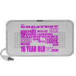 Girls 16th Birthdays : Pink Greatest 16 Year Old Portable Speaker