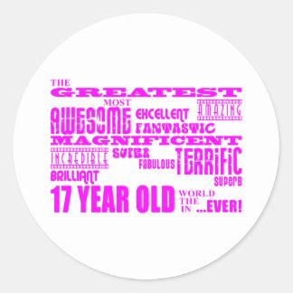 Girls 17th Birthdays : Pink Greatest 17 Year Old Sticker