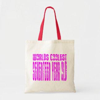 Girls 17th Birthdays Pink Worlds Coolest Seventeen Bag