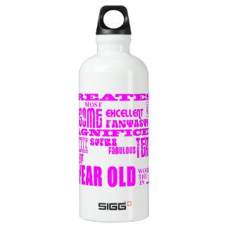 Girls 18th Birthdays : Pink Greatest 18 Year Old Aluminum Water Bottle