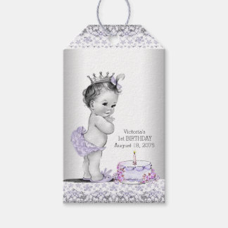 Girls 1st Birthday Party Favor Gift Tags