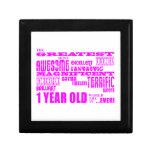 Girls 1st Birthday : Pink Greatest 1 Year Old Trinket Box