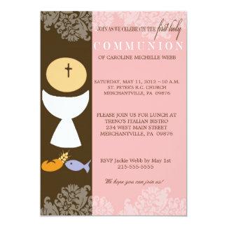 Girl's 1st Communion Invitation