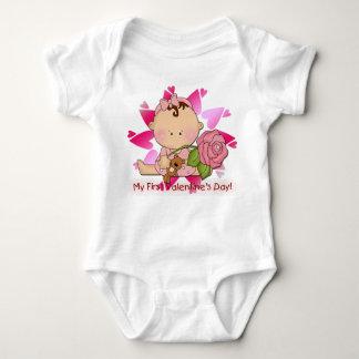 Girl's 1st Valentine's Day Infant Creeper