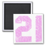 Girls 21st Birthday Gifts 2 Inch Square Magnet