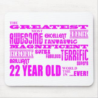 Girls 22nd Birthdays Pink Greatest Twenty Two Mouse Pad