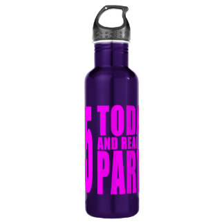 Girls 25th Birthdays : 25 Today and Ready to Party Stainless Steel Water Bottle