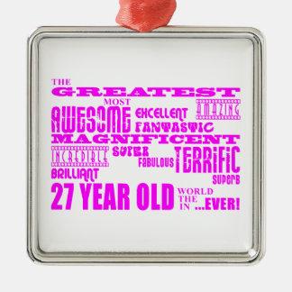 Girls 27th Birthdays Pink Greatest Twenty Seven Christmas Tree Ornament