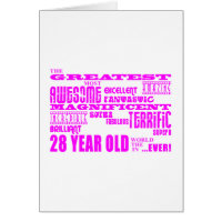 28th birthday cards greeting photo cards zazzle girls 28th birthdays pink greatest twenty eight note cards bookmarktalkfo Gallery