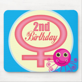 Girls 2nd Birthday Gifts Mouse Pad