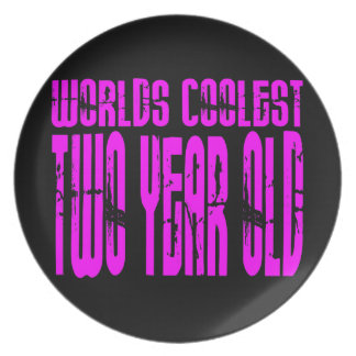 Girls 2nd Birthdays Pink Worlds Coolest Two Year Party Plate