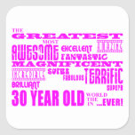 Girls 30th Birthdays Pink Greatest Thirty Year Old Square Sticker