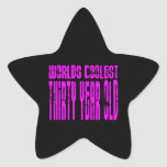 Girls 30th Birthdays Pink Worlds Coolest Thirty Sticker