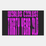 Girls 30th Birthdays Pink Worlds Coolest Thirty Rectangular Stickers