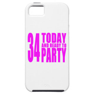 Girls 34th Birthdays : 34 Today and Ready to Party iPhone 5 Cover
