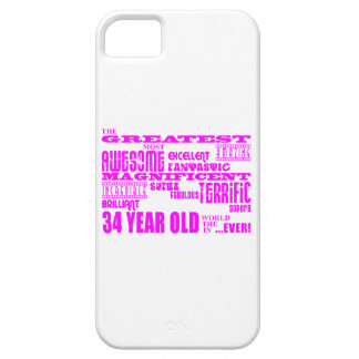 Girls 34th Birthdays Pink Greatest Thirty Four iPhone 5 Cases