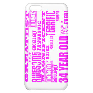 Girls 34th Birthdays Pink Greatest Thirty Four Case For iPhone 5C