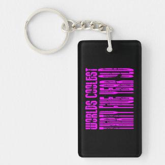 Girls 35 Birthdays Pink Worlds Coolest Thirty Five Single-Sided Rectangular Acrylic Keychain