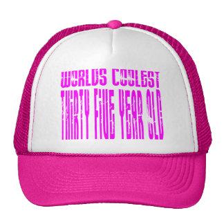 Girls 35 Birthdays Pink Worlds Coolest Thirty Five Trucker Hat