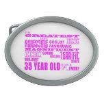 Girls 35th Birthdays Pink Greatest Thirty Five Belt Buckle
