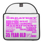 Girls 35th Birthdays Pink Greatest Thirty Five Sleeve For MacBooks