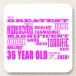 Girls 36th Birthdays Pink Greatest Thirty Six Drink Coaster