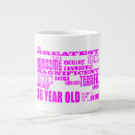 Girls 36th Birthdays Pink Greatest Thirty Six 20 Oz Large Ceramic Coffee Mug