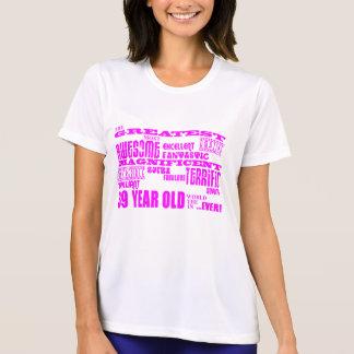Girls 39th Birthdays Pink Greatest Thirty Nine T Shirt