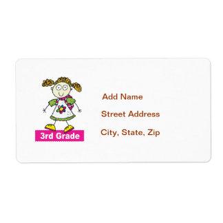 Girls 3rd Grade Label