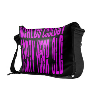 Girls 40th Birthdays Pink Worlds Coolest Forty Courier Bags