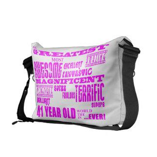 Girls 41st Birthdays : Pink Greatest Forty One Messenger Bag