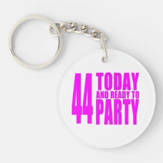 Girls 44th Birthdays : 44 Today & Ready to Party Keychain